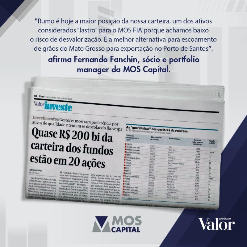 Quase R$ 200 bi da carteira dos fundos estão em 20 ações